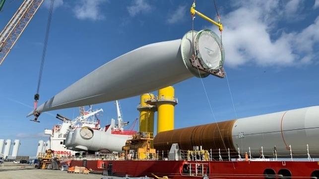 Aerogeneradores para  la energía eólica marina de Virginia