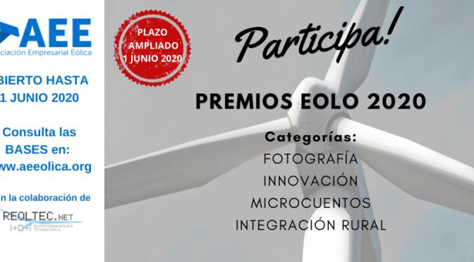 El plazo para participar en los Premios Eolo finaliza el 1 de junio