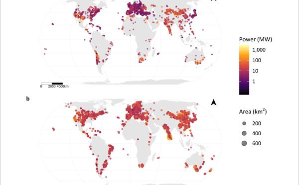Mapa mundial de la energía eólica y solar