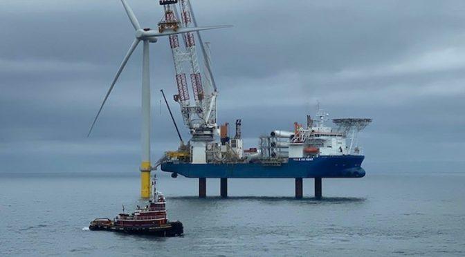 La primera instalación de energía eólica marina de Siemens Gamesa en EE. UU.