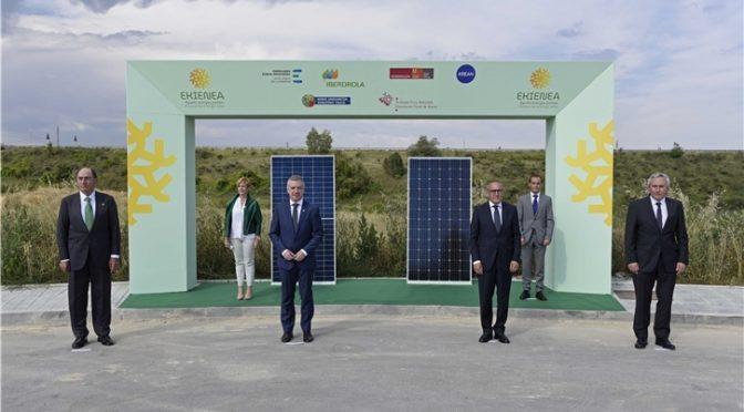 Iberdrola, Grupo Mondragon, la diputación foral de Álava y el EVE se unen para construir la mayor planta fotovoltaica de Euskadi