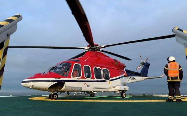 Helicópteros CHC para central de energía eólica marina