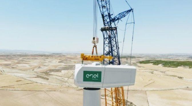 El primer proyecto híbrido de eólica y almacenamiento a gran escala de Enel
