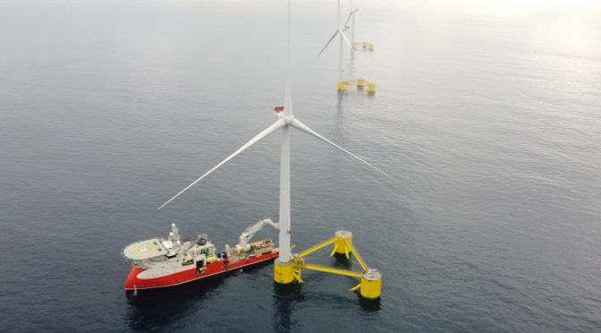 Primer proyecto de energía eólica flotante en Europa continental
