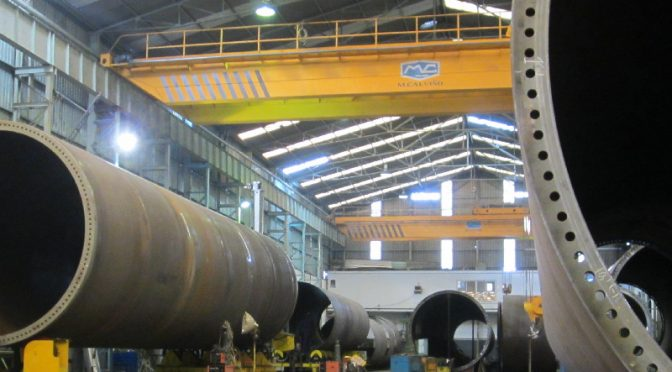 Metalúrgica Calviño exportará por primera vez torres para la eólica a Estados Unidos