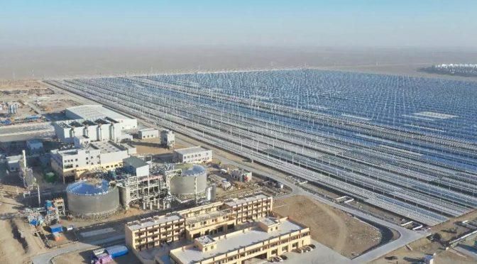 Protermosolar: La primera central de energía termosolar Fresnel de sal fundida se conecta en China