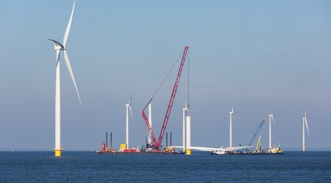 Colaboración europea en el futuro desarrollo de la energía eólica marina