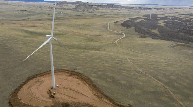 Finaliza la construcción de la central eólica Rattlesnake Flat