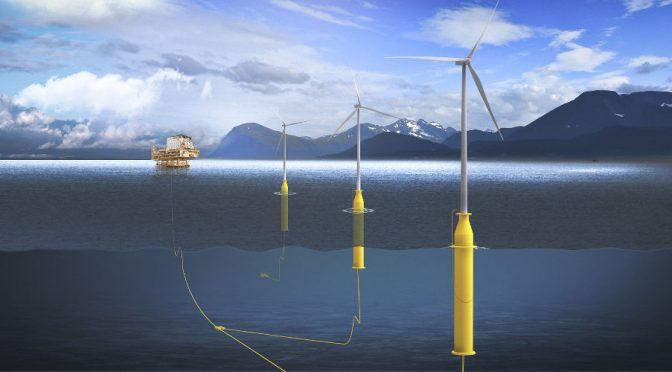 EDP planea construir un parque eólico marino flotante en Asturias