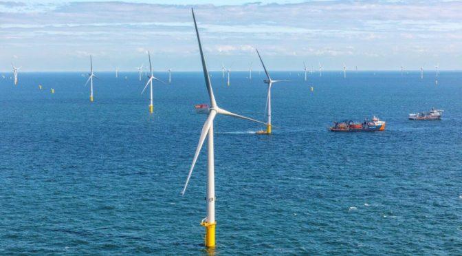 Primera energía eólica lograda en el parque eólico Blauwwind