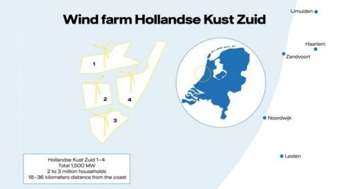 La mayor central de energía eólica marina estará en los Países Bajos