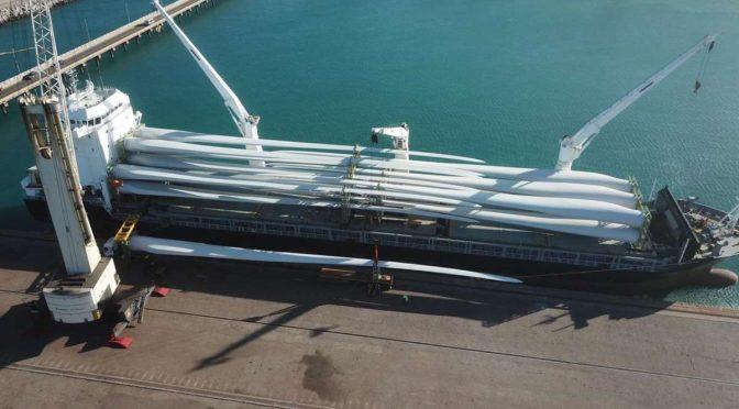 Se envía nuevo modelo de pala de energía eólica desde el Puerto de Pecém