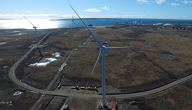Parque Eólico de ENAP en Magallanes