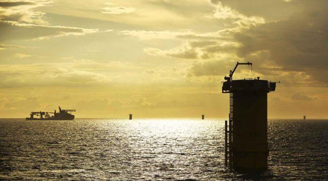 RWE completa la instalación de cimientos y cables en central eólica marina Triton Knoll