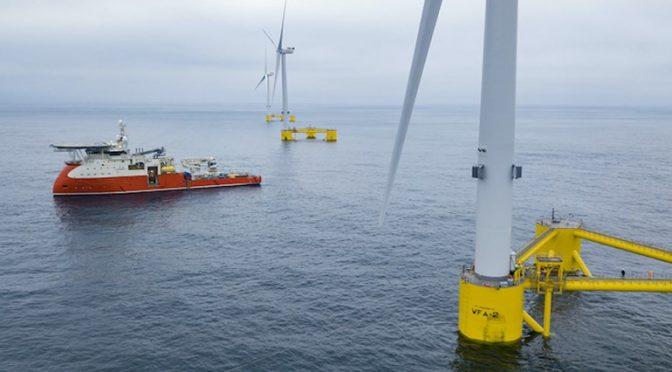 Rovco estudiará el proyecto de energía eólica flotante Erebus