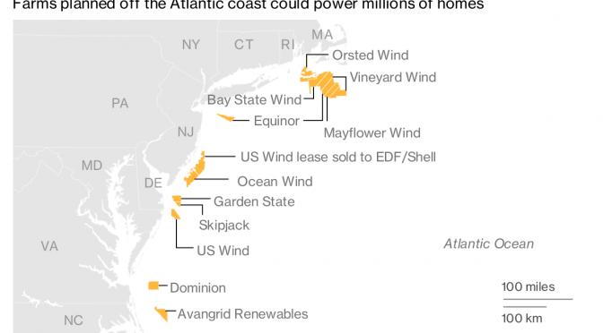 Equinor presenta ofertas por dos proyectos de energía eólica frente a la costa este de EE. UU.