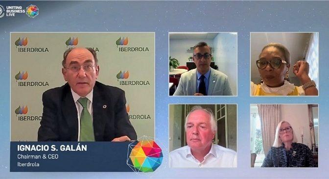 Ignacio Galán confirma en la Semana del Clima de Nueva York la apuesta de Iberdrola por el hidrógeno verde