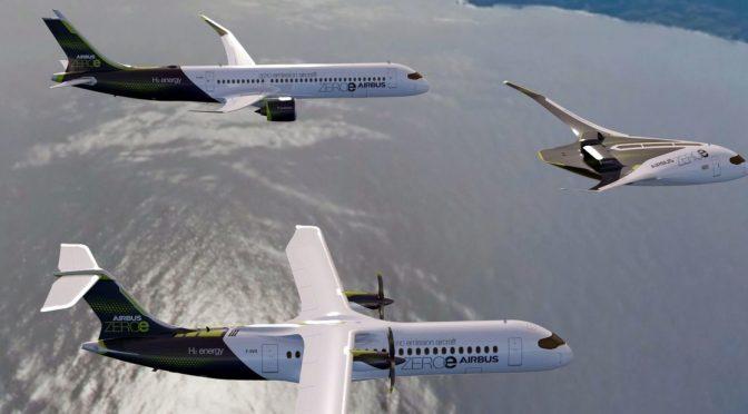 Avión Airbus con propulsión a hidrógeno