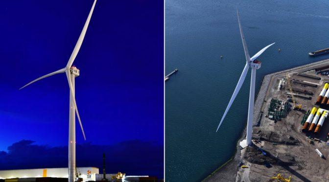Los mayores aerogeneradores para la mayor central eólica marina
