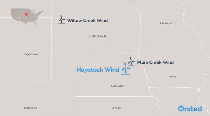 Ørsted inicia la construcción de un proyecto de energía eólica de 298 MW en Nebraska