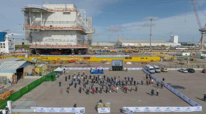 Navantia entrega su primer gran proyecto de eólica offshore para Aibel y Equinor