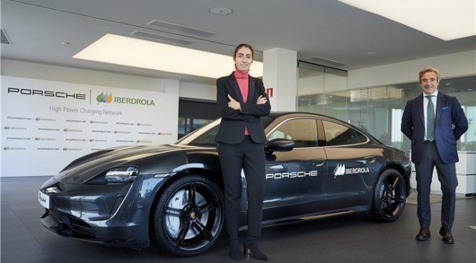 Iberdrola y Porsche se unen para promover la recarga ultrarrápida de vehículo eléctrico en España