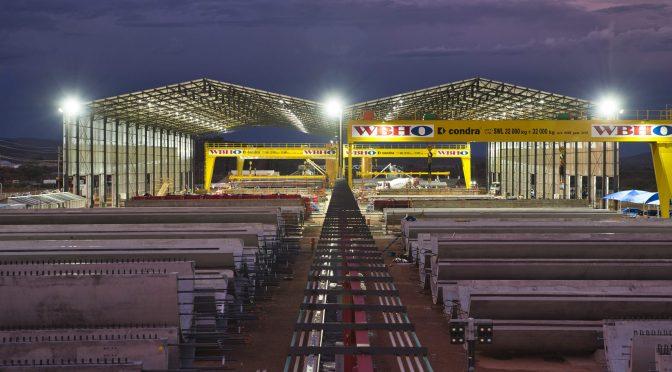 Comienza a operar la nueva fábrica de torres de hormigón para la energía eólica de Nordex en España