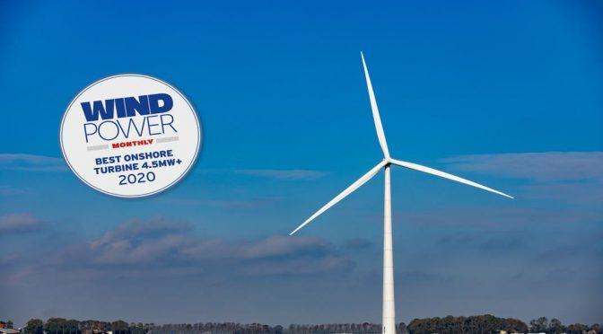 E-160 EP5 gana el premio a la «mejor turbina eólica del año»