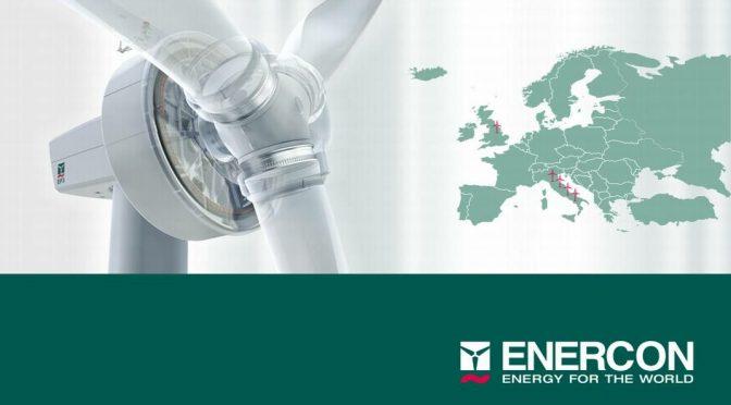 Energía eólica en Italia, aerogeneradores Enercon para parques eólicos de 190 MW