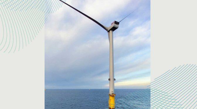Se instala la primera turbina eólica en el parque eólico marino Triton Knoll
