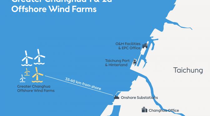 Ørsted inicia la instalación de las centrales de energía eólica Greater Changhua 1 y 2a