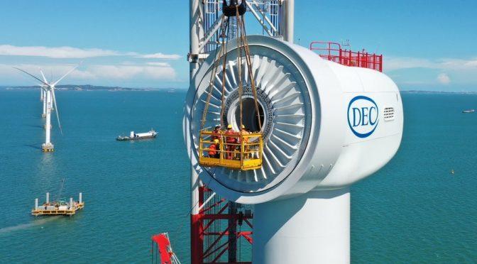 China supera los 10 millones de kilovatios de energía eólica marina conectados a la red