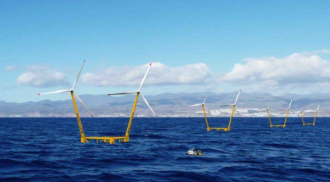 EnerOcean proyecta 180MW de energía eólica marina flotante en Islas Canarias