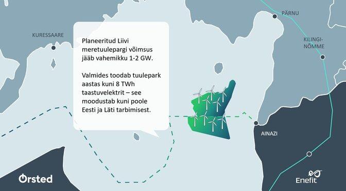Ørsted y Eesti construirán una planta de energía eólica marina en el Báltico de 1-2 GW