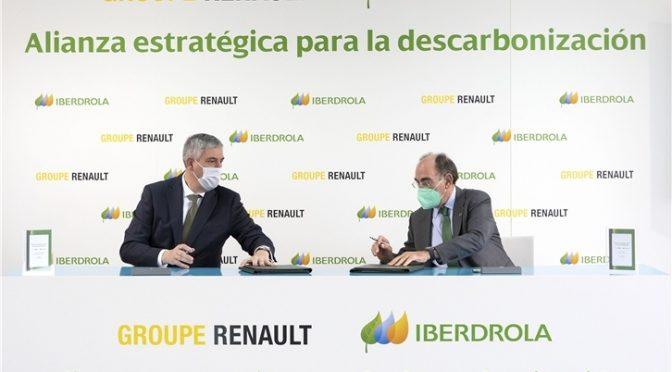 Renault sella una alianza con Iberdrola para alcanzar la huella de carbono cero en sus fábricas