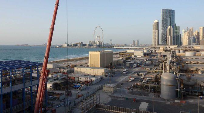 La desalinizadora por ósmosis inversa de Jebel Ali de ACCIONA ya produce a pleno rendimiento y suministra agua a la red de Dubái