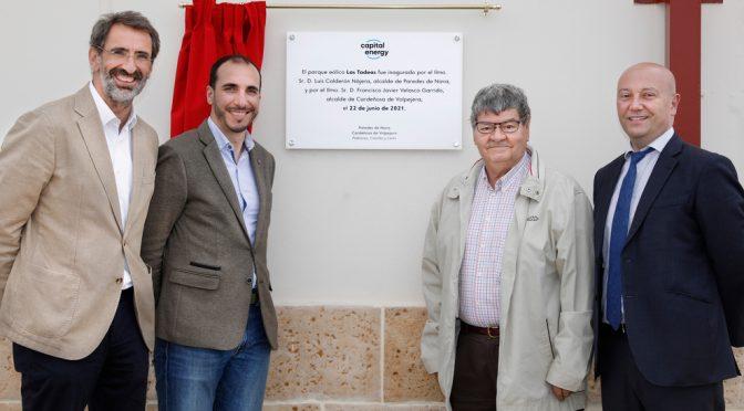 Capital Energy inaugura su primer parque eólico en Castilla y León, Las Tadeas, de 39 MW