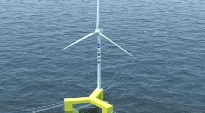 MingYang de China presenta la primera turbina eólica marina flotante del país