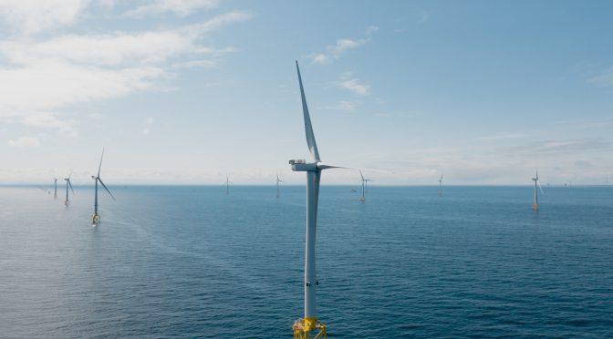 Primera celebración de generación de energía eólica en Moray East