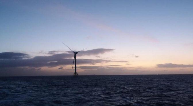 Ocean Winds comienza a generar energía eólica en Moray East