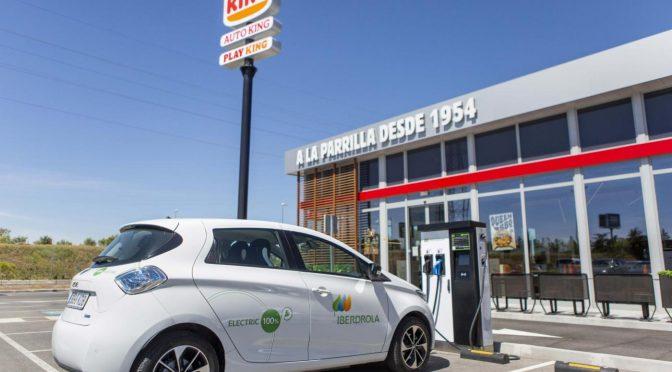 RB Iberia e Iberdrola Instalarán 400 puntos de carga de vehículos eléctricos en restaurantes