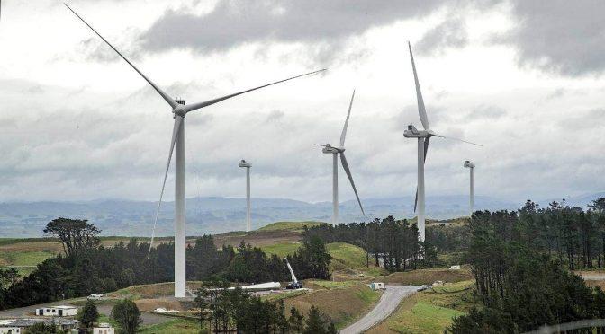 Eólica en Nueva Zelanda, avanza el parque eólico de Turitea